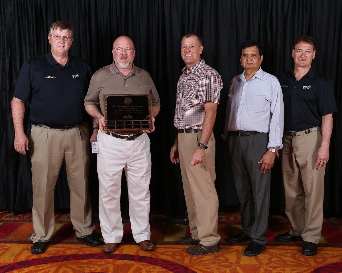 Randy VPP award acceptance group Axcet