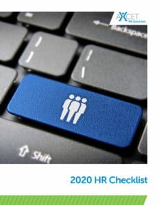 Axcet HR Checklist blue computer key with people
