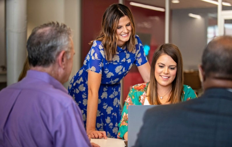 Employees working at Kansas City-based Axcet HR Solutions