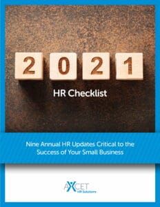 2021 HR Checklist - Nine Annual HR Updates Critical for Your Business