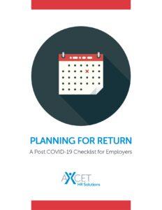 Planning for Return - Post Covid-19 Checklist